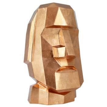 Moai Head Sculpture – Copper