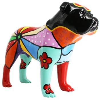 Bulldog Sculpture Folk Art