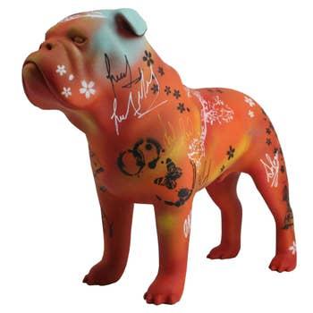 Bulldog Sculpture - Graffiti
