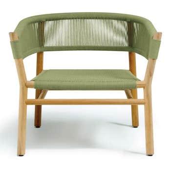 Kilt Lounge Armchair in Teak