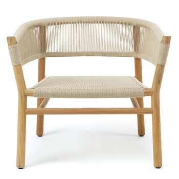 Kilt Lounge Armchair in Teak - Natural, Lounge Armchair + Rain Cover
