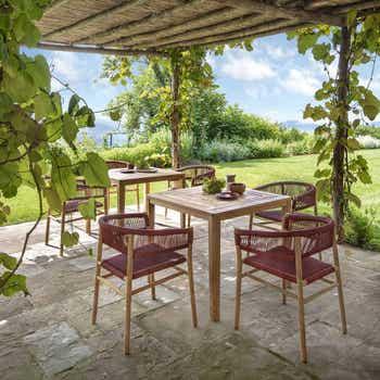 Kilt Dining Armchair in Teak