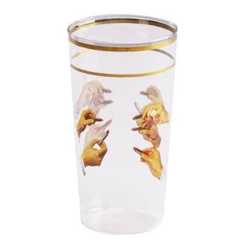 Lipsticks Glass Tumbler