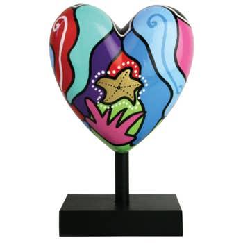 Marina Missive Heart Sculpture