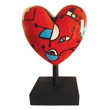 Red Missive Heart Sculpture