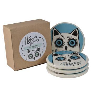 Owl Coaster Set of 4