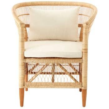 Rose Rattan Chair