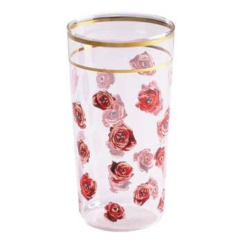 Roses Glass Tumbler