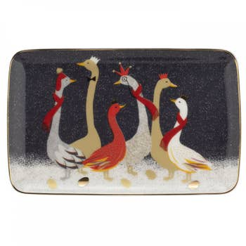 Geese Christmas Tray