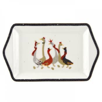 Geese Christmas Dessert Tray