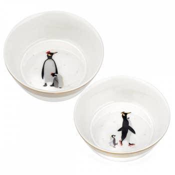 Penguin Christmas Bowls