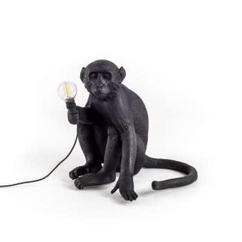 The Monkey Lamp Sitting