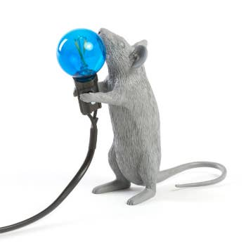 Grey Mouse Lamp Step