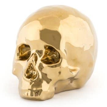 Memorabilia Gold Skull Deco