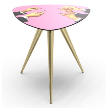 Pink Lipsticks Side Table