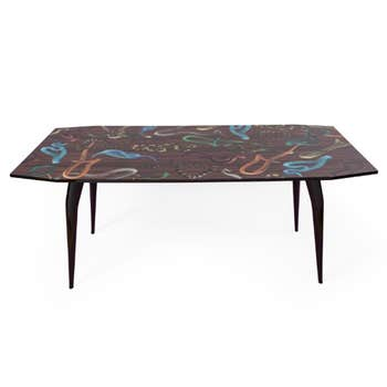 Snakes On Wood Table