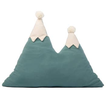 Snowy Mountain Cushion Green