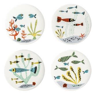 Fish Coasters Set of 4