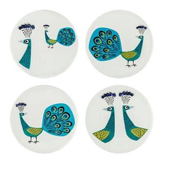 Peacock Coasters Set of 4