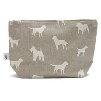 M&H French Grey Wash Bag