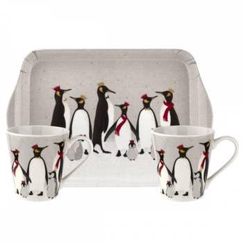 Penguin Christmas Mug & Tray