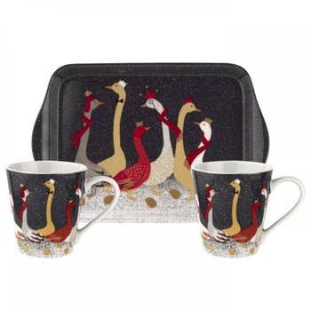 Geese Christmas Mug & Tray Set