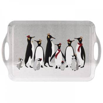 Penguin Christmas Handle Tray