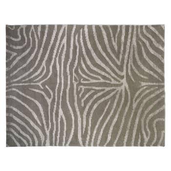 Zebra Greige/ Linen Rug