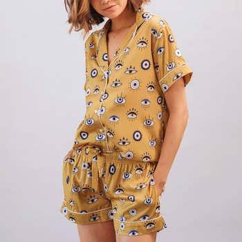 Amara Eye Shorts Pyjama Set