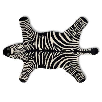 Zebra Rug Black & White