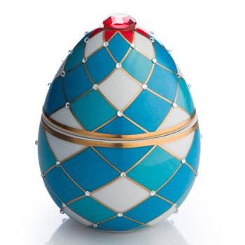 Faberge Arlequin Egg Candle