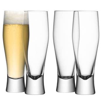 Bar Lager Glass Set of 4
