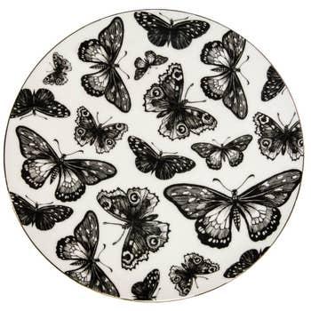 Bastillion Butterflies Plate