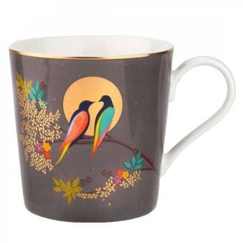Birds in Moon Mug