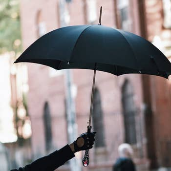 Red Gem Handle Luxury Umbrella