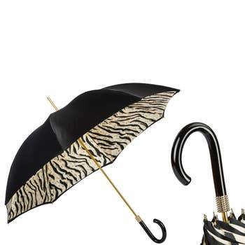 Black Tiger Striped Umbrella