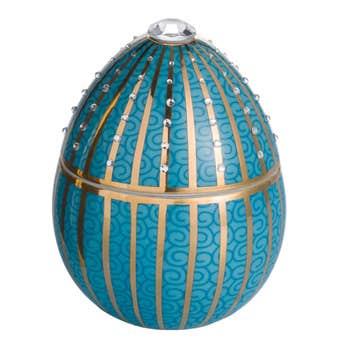 Faberge Blue Egg Golden Candle