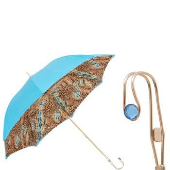 Bright Animalier Print Luxury Umbrella