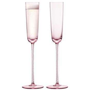 Pink Champagne Flute Set of 2