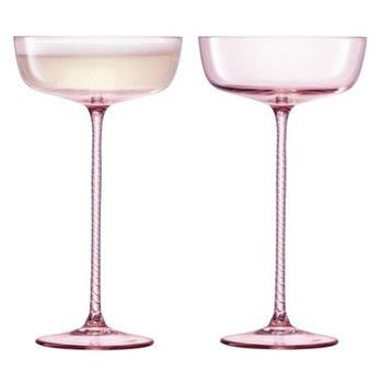Pink Champagne Saucer Set of 2