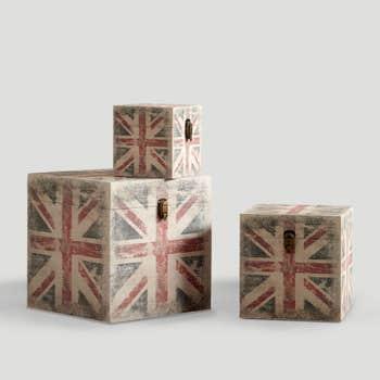 UK Flag Trunks Set of 3