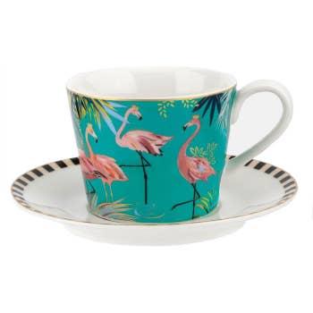 Flamingo Teacup & Saucer