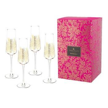 Leaves Champagne Flute Set/4