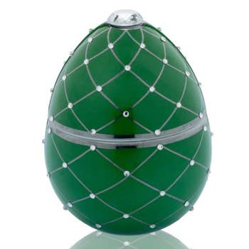 Faberge Green Egg Candle