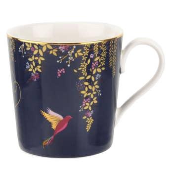 Navy Hummingbird Mug