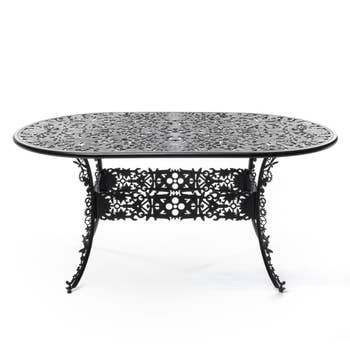 Industry Black Oval Table