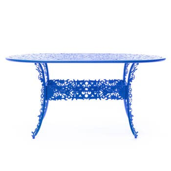 Industry Blue Oval Table