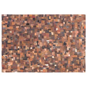 Labels Leather Rug