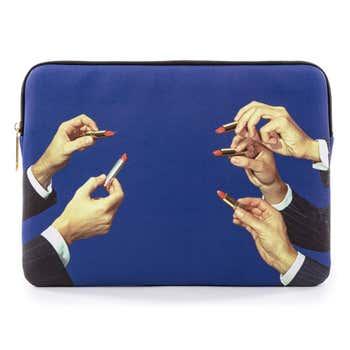 Blue Lipsticks Laptop Bag