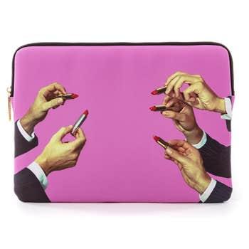 Pink Lipsticks Laptop Bag